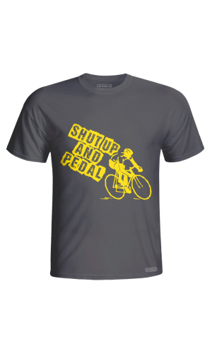 XSNA SHUT UP & PEDAL T-SHIRT