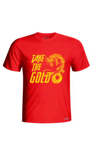 XSNA TAKE THE GOLD T-SHIRT RED GOLD