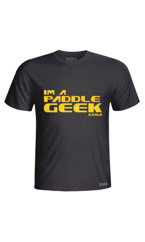 XSNA PADDLE GEEK T-SHIRT BLACK GOLD
