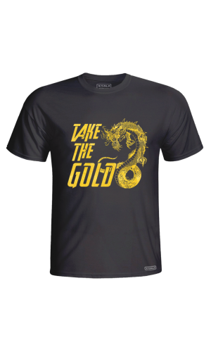 XSNA TAKE THE GOLD T-SHIRT BLACK GOLD